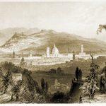 Florenz und Fiesole, Italien. Die Schönheit des Arno Tales.