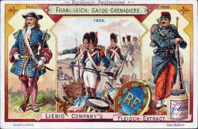 Liebig, Sammelbilder, Regimenter, Uniformen, Frankreich, Garde-Grenadiere