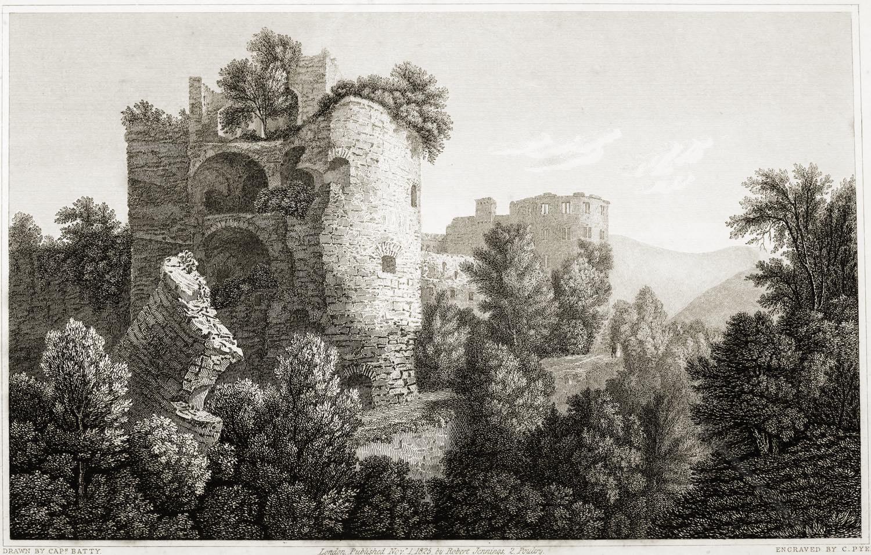 Heidelberg, Gesprengter Turm, Krautturm, Robert Batty, Kupferstick, Romantik, Ruine,