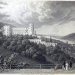 Das Schloss in Heidelberg. Landschaften am Rhein 1826.