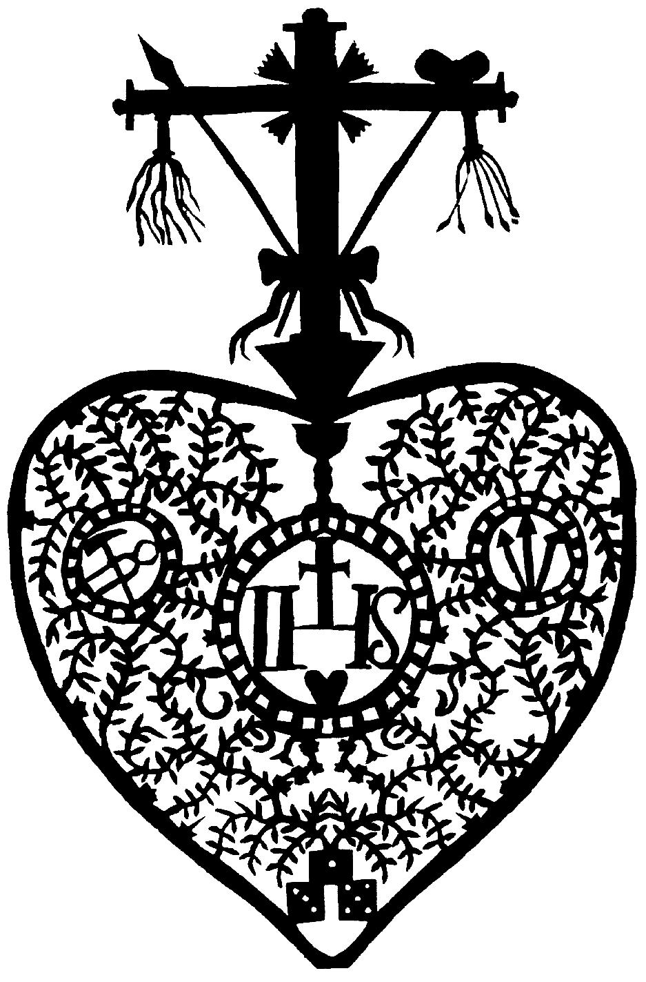 Scherenschnitt, Herz, Marterwerkzeug, Oberösterreich