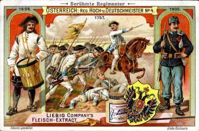 Liebig, Sammelbilder, Regimenter, Uniformen, Österreich, Hoch, Deutschmeister, Nr. 4.