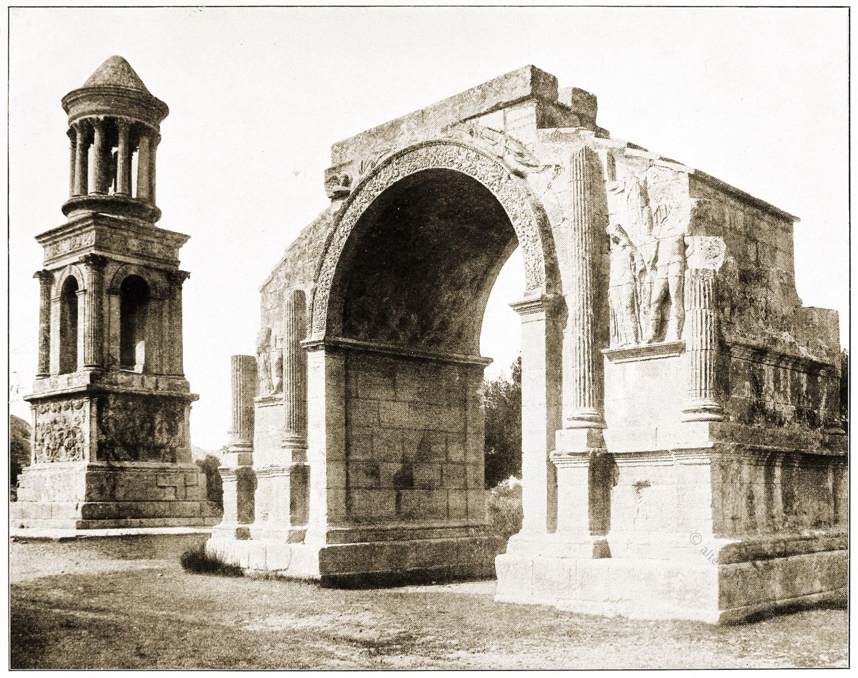 Triumphbogen, Grabmal, Julier, St. Remy, Provence, Baudenkmal, Rom, Architektur,