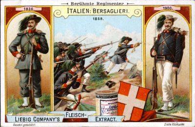 Italien, Bersaglieri, Liebig, Sammelbilder, Regimenter, Uniformen,