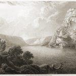 Der Loreley Fels. Landschaften am Rhein von Robert Batty.