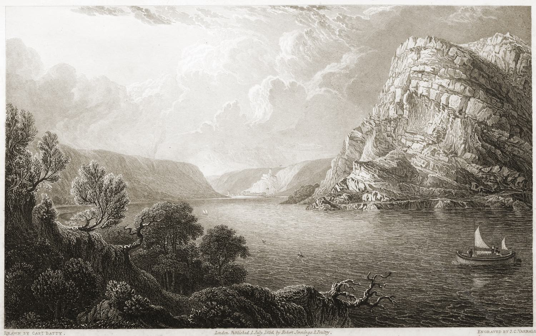Loreley, Rheinlandschaft, Illustration, Romantik, Robert Batty