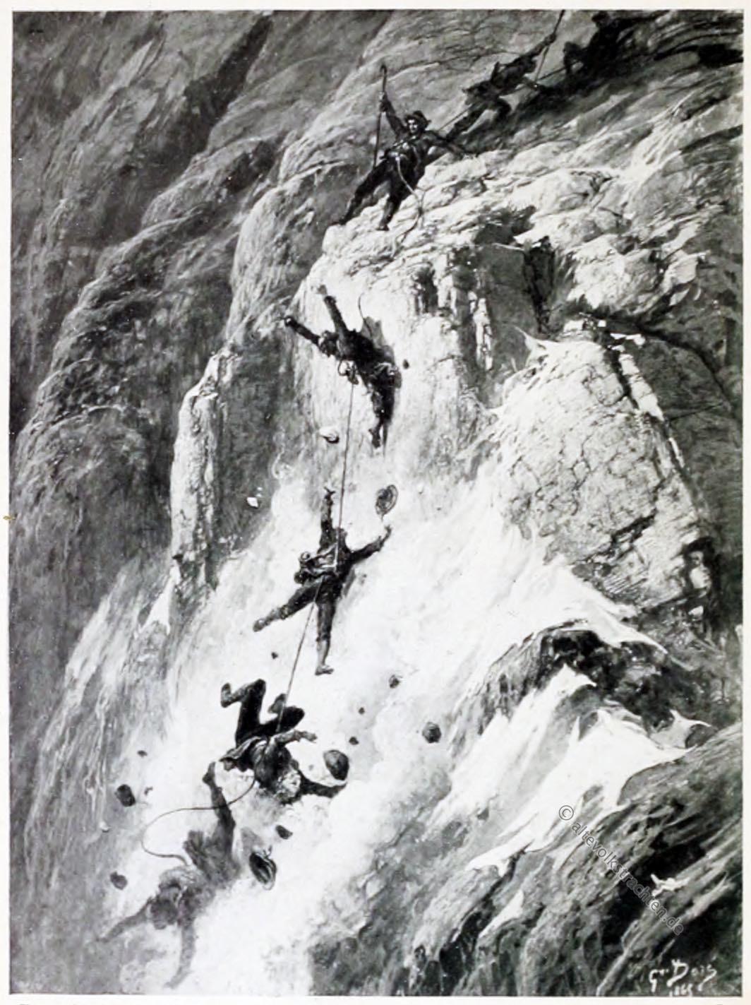 Tragödie, Matterhorn, Doré, Whymper