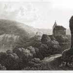 Die Vierburgenstadt Neckarsteinach von Robert Batty im Jahre 1825.