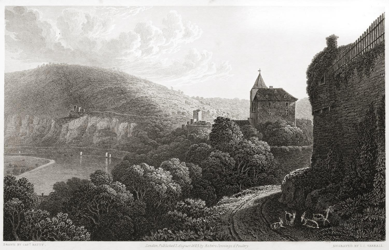 Vierburgenstadt, Neckarsteinach, Robert Batty, Kreis, Illustration,Bergstraße, Hessen