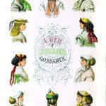 Pariser Hutmode des Jahres 1866. Kapotthut, Leghorn, Florentinerhut.