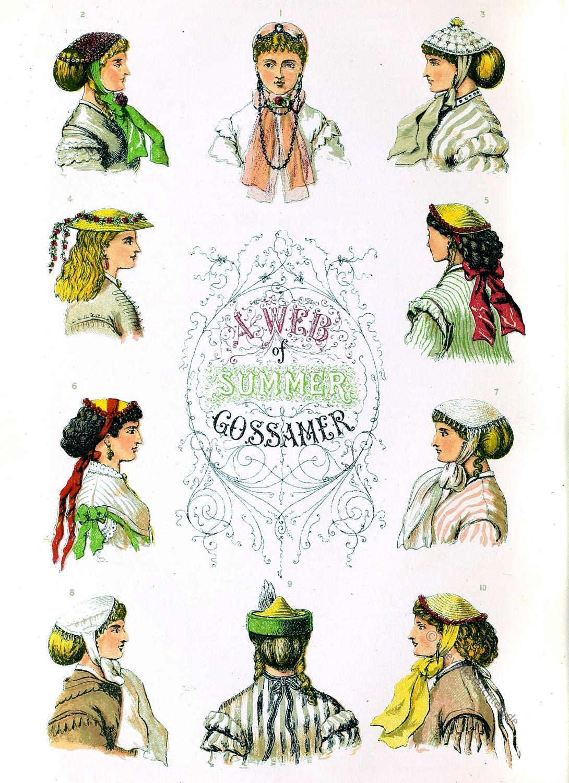 Leghorn, Hutmode, Strohhüte, Florentiner. Kapotthut, Mode, 19. Jh,