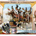 Uniformen berühmter europäischer Regimenter. Liebig Figurenserie 454.