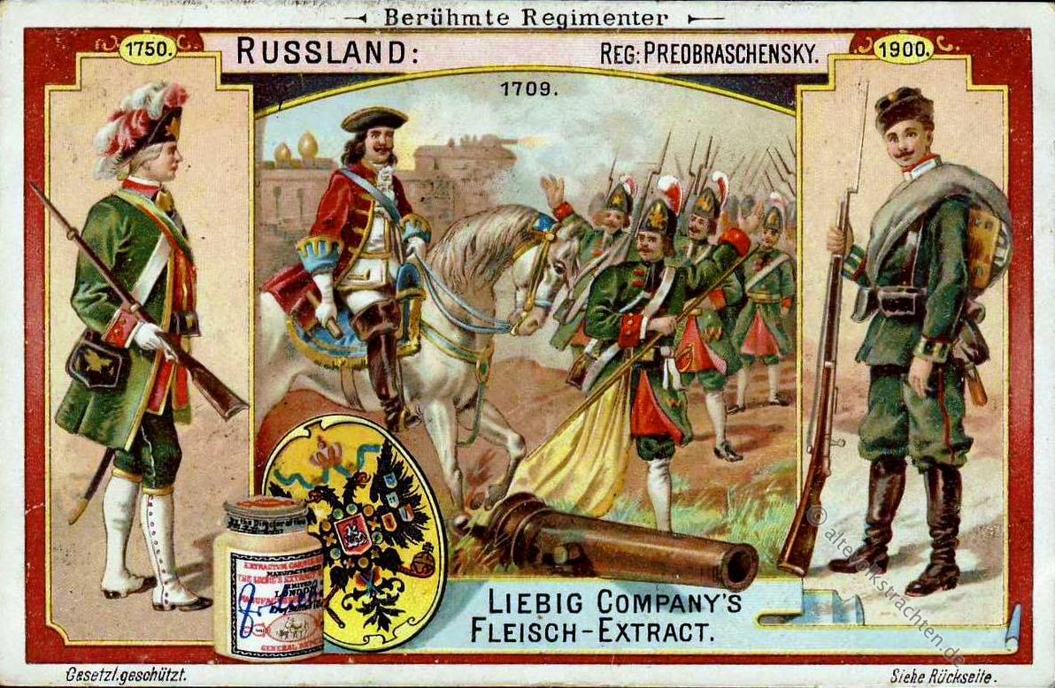 Russland, Preobraschenski, Regimenter, Uniformen,