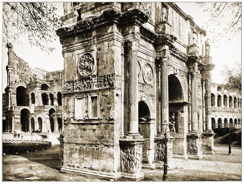 Konstantinsbogen, Siegesbogen, Konstantin, Antike, Baukunst, Rom, Architektur, römischer Triumpfbogen,