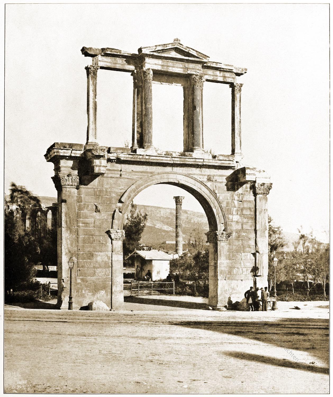 Hadrianstor, Hadriansbogen, Antike, Bauwerk, Athen
