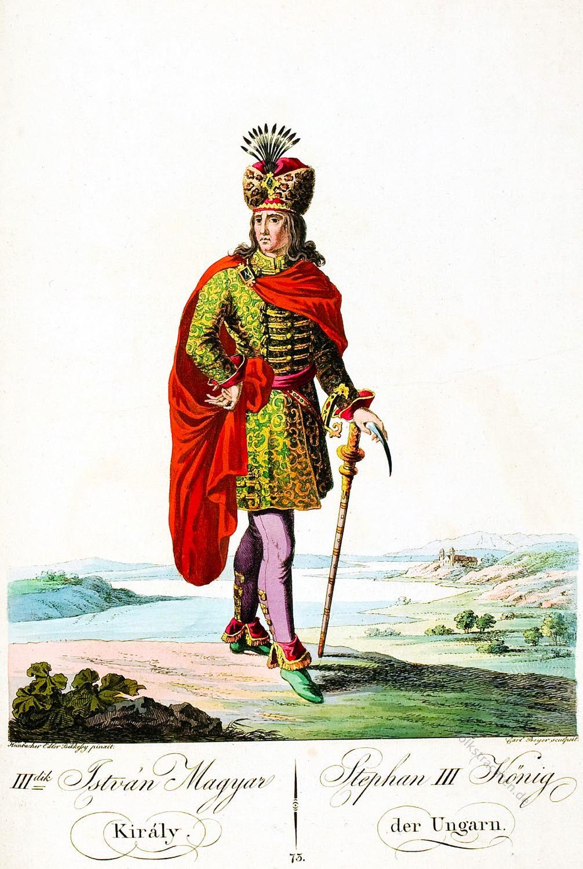 Stephan III, König, Ungarn, Kostüm,