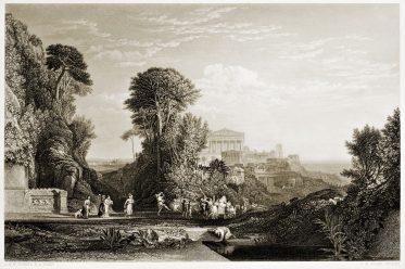 William Turner, Art, british, Tempel, jupiter, Panhellenius
