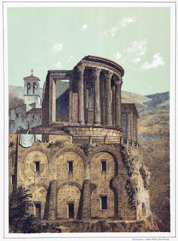 Tempel, Vesta, Tivoli, Italien,