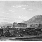 Die antike griechische Stadt Posidonia oder Paestum in Magna Graecia.