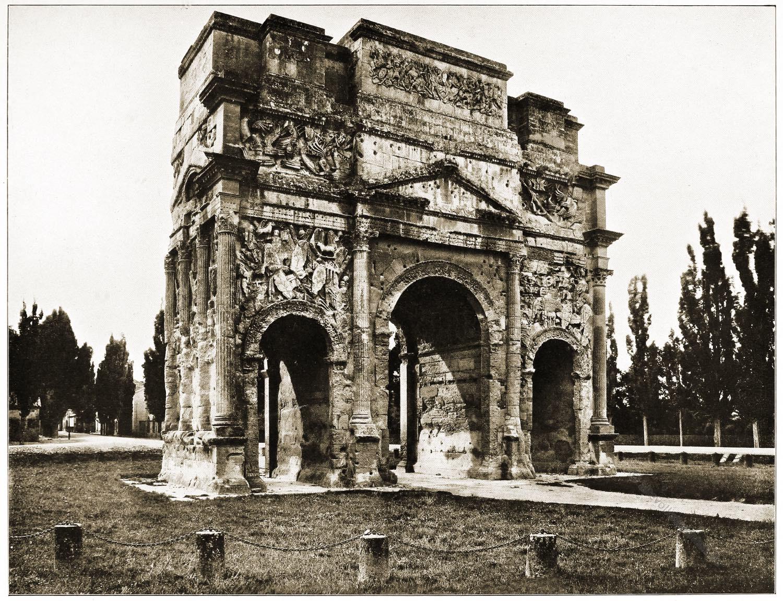 Tiberiusbogen, Siegesbogen, Orange, Provence, Antike, Baukunst, Rom, Architektur, Triumpfbogen,