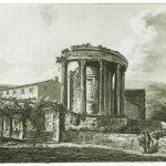 Der römische Tempel der Sibylle auf der Akropolis von Tivoli.
