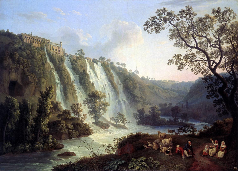 Hackert, Tivoli, Villa, Maecenas, Wasserfälle