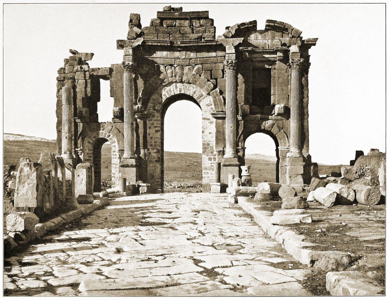 Trajansbogen, Timgad, Algier, Antike, Baukunst, Rom, Architektur, Triumpfbogen,