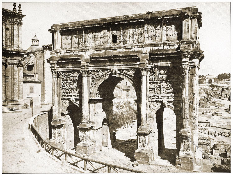 Septimius Severus, Antike, Baukunst, Rom, Architektur, Triumpfbogen,