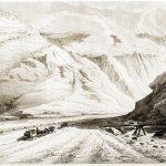 Bei Aiguebelle. Mit der Kutsche zum Mont-Cenis-Pass, 1820.
