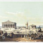 Ansicht der Akropolis von Athen zur Zeit des Perikles im 5. Jh.