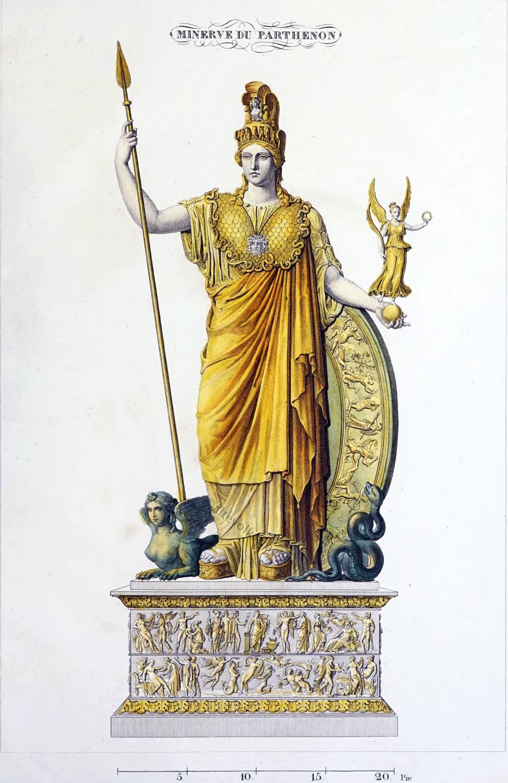Standbild, Athen, Athena Promachos, Antike, Akropolis