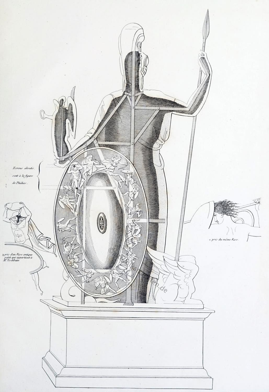 Konstruktion, Standbild, Athen, Athena Promachos, Antike, Akropolis