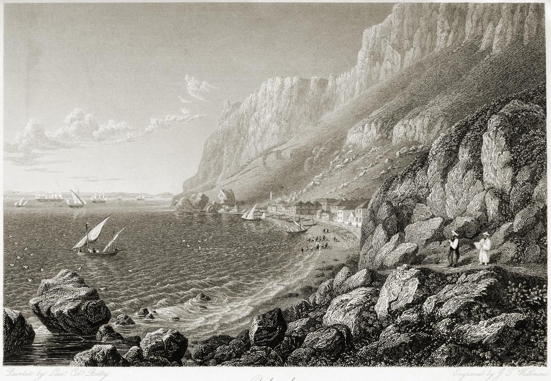Catalan Bay, Gibraltar, Segelschiffe