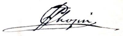 Frédéric François Chopin Autograph