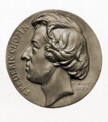 Frédéric François Chopin,  Bronze-Relief, Jean Francois Antoine Bovy