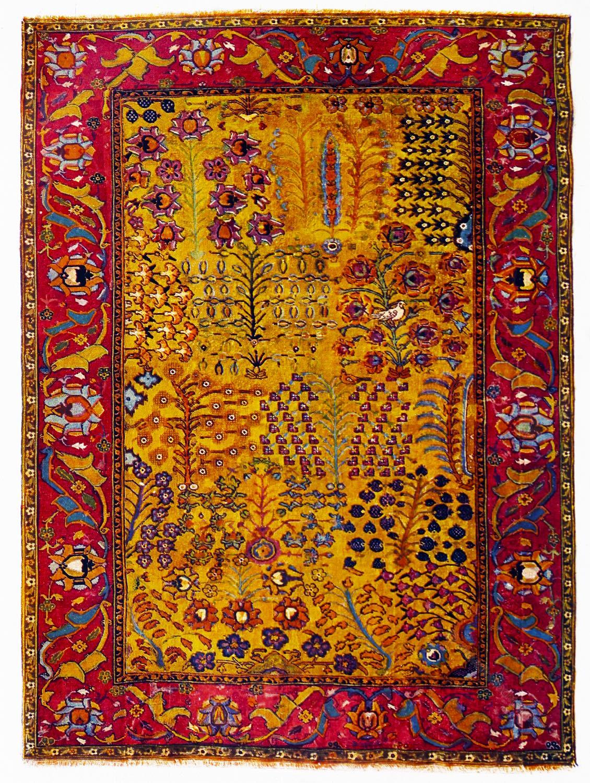 Persien, Isfahan, Handgeknüpft, Khalitsche, Orient-Teppich, Teppich, Antik, Persien,