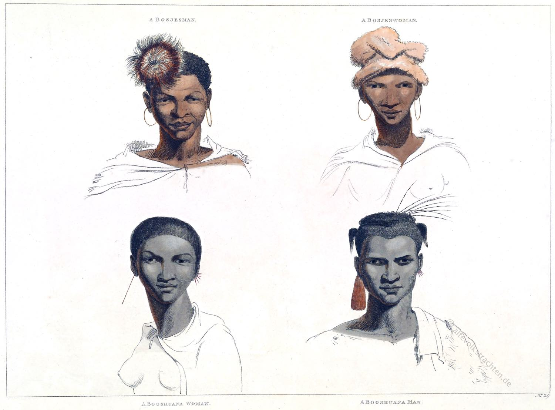 Buschmann, Khoikhoi, Südafrika, Bosjemans, San, Ethnie,