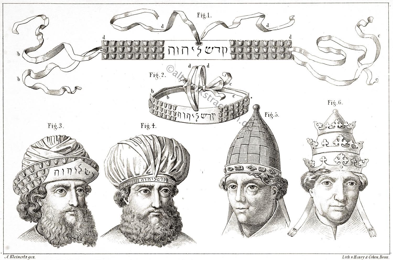 Hohepriester, Hohenpriester, Opferpriester, Tiara, Mitra, Lamina, Corona, Judentum, Priester, Kleidung