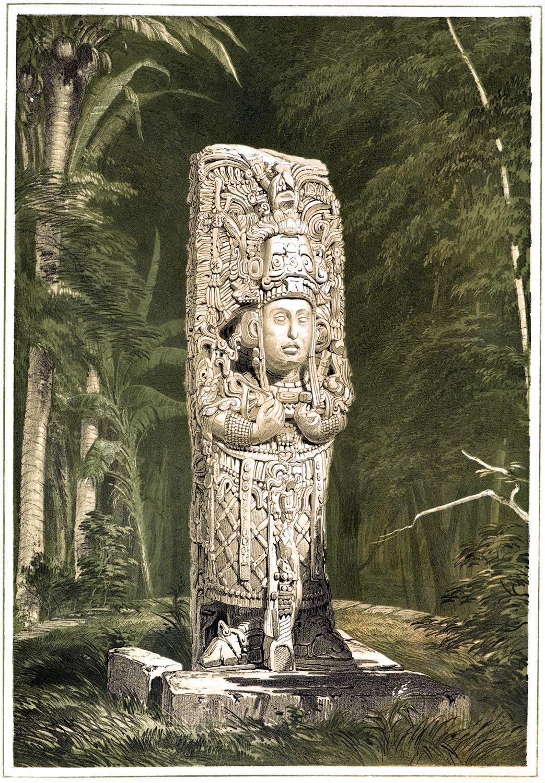 Stele, Maya-Idol, Maya, Copán, Honduras, Kultur, Skulptur,
