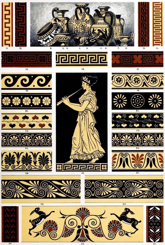 Polychrome Ornamentik, Antike, Griechenland, Keramik, Ornamentik, Hellenismus,