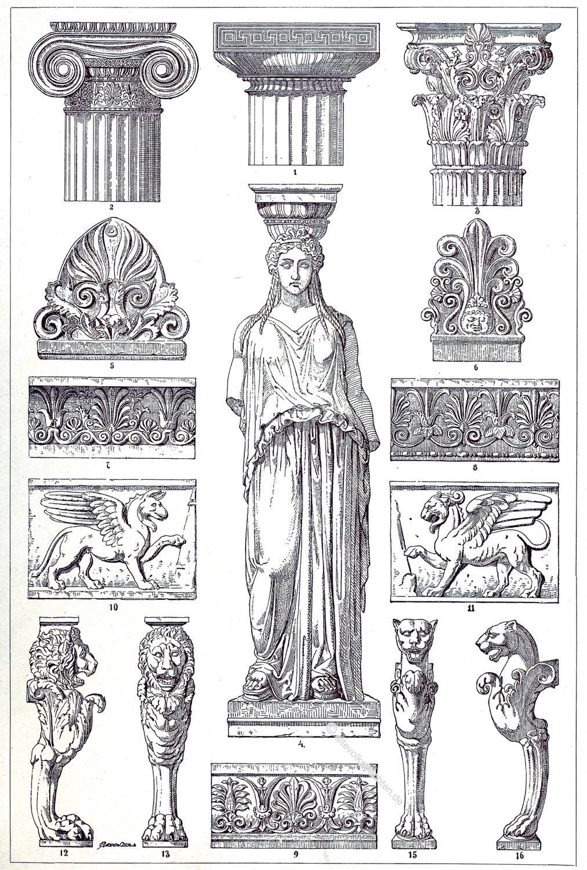 Polychrome, Ornamente, Antike, Griechenland, Architektur, Skulptur, Ornamentik, Hellenismus