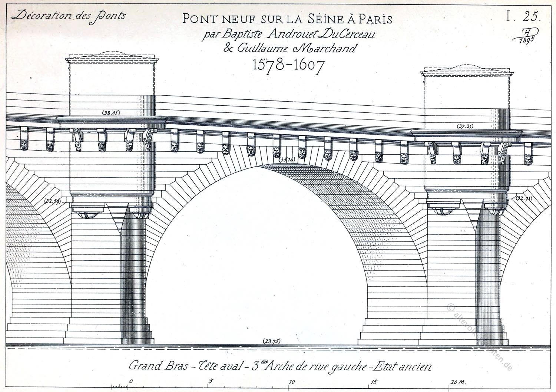 Pont Neuf, Paris, Brücke, Konstruktion,