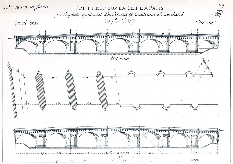 Pont Neuf, Paris, Decoration, Grand bras