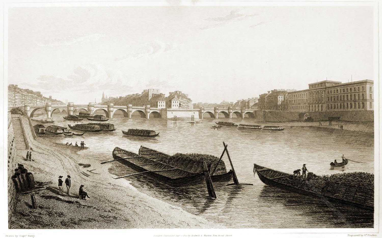 Pont Neuf, Paris, Brücke, Stadtansicht, Illustration,