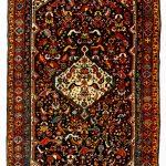 Persischer Schiras Nomadenteppich der Ghashgai um 1750.