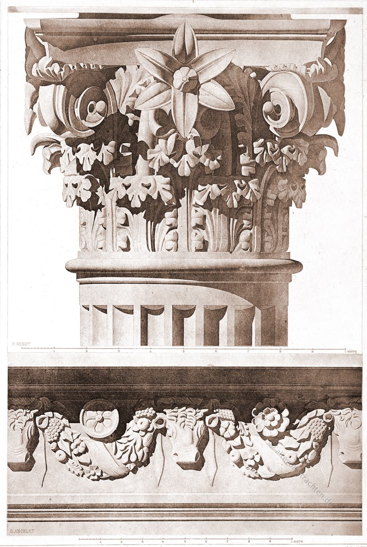 Kapitell, restauriert , Tempel, Tivoli, Römisch, Architektur, Antike