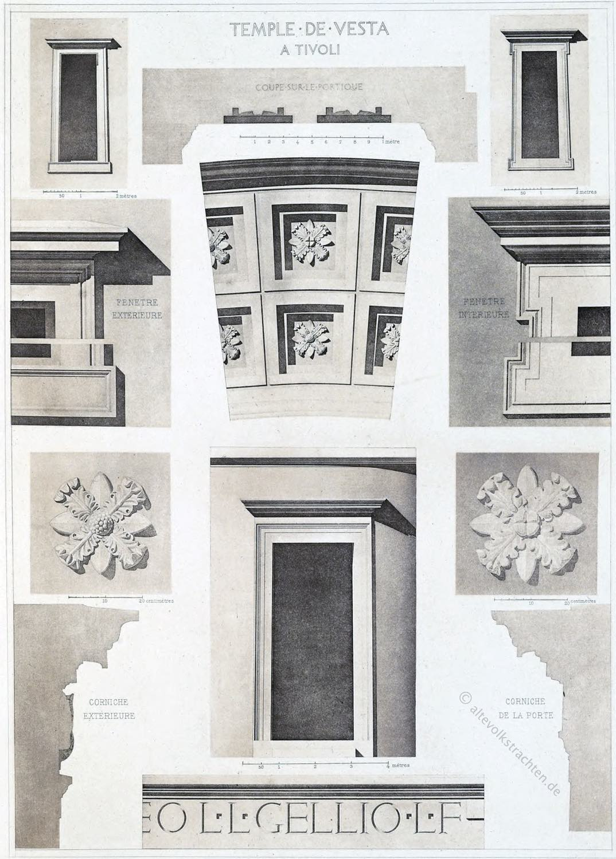 Fragmente, restauriert, Tempel, Tivoli, Römisch, Architektur, Antike