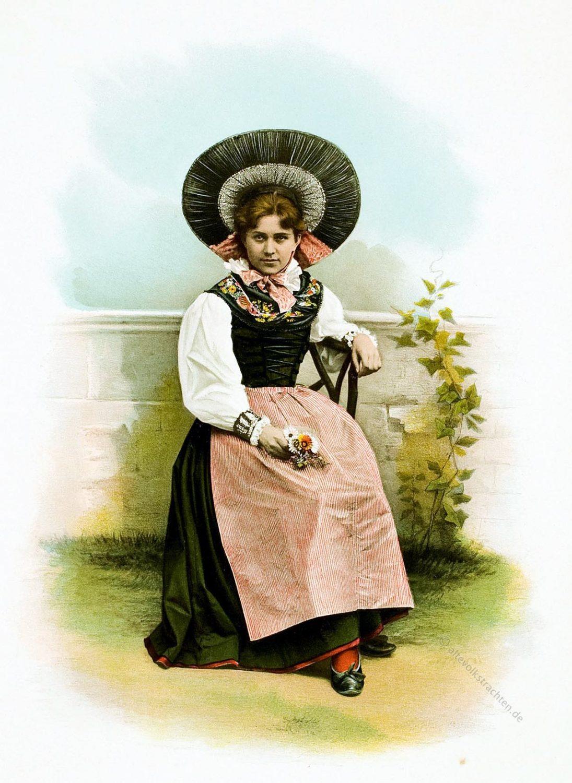 Kanton, Thurgau, Trachtenmode, Schweiz, Heierli,