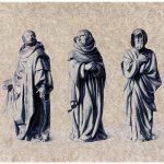 Trauernde. Skulpturen aus dem Grabmal von Phillip II. der Kühne.
