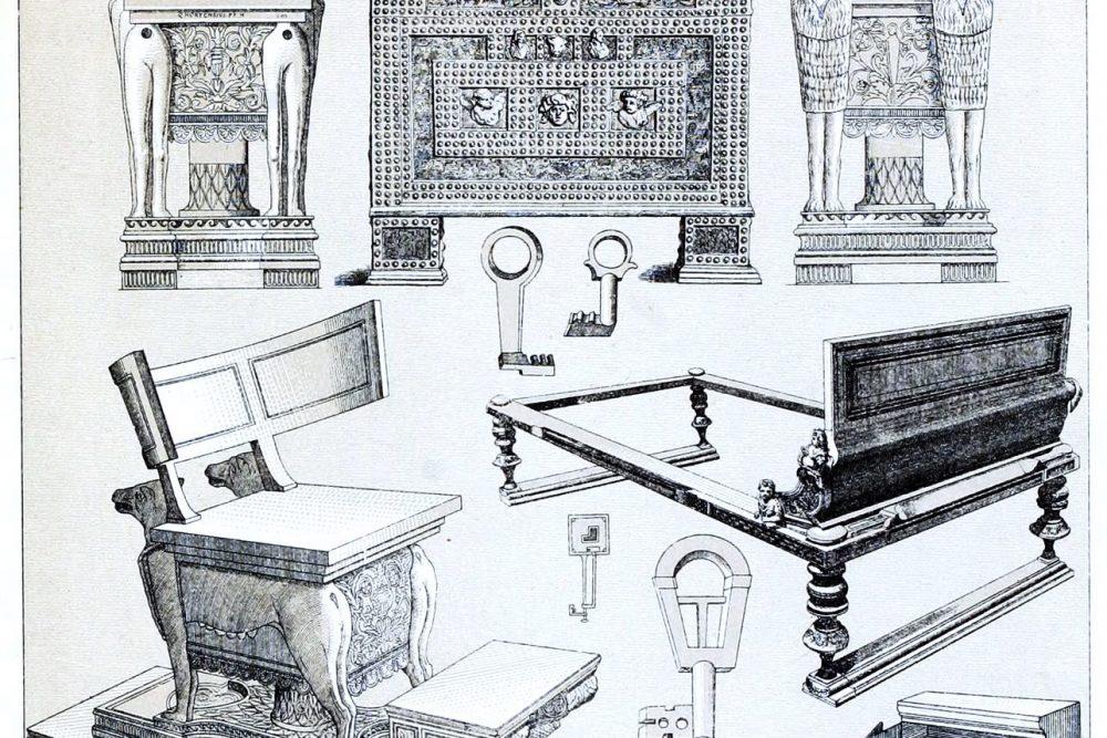 Auguste Racinet, Möbel, Geräte, Antike, Römer,